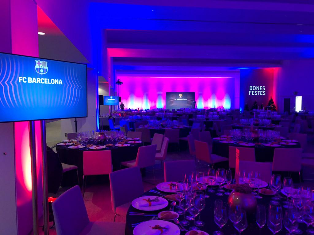 Organización evento Cena de Navidad del Barça 2018